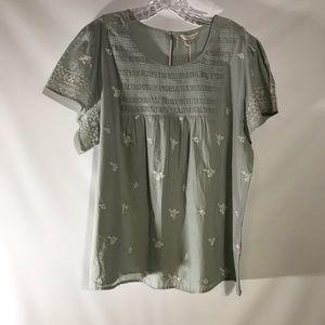 Lucky brand short sleeve tunic top. NWT
